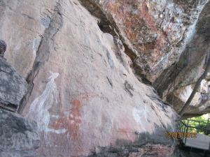 Kangaroo rock art image