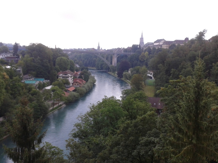 View of Aere river in Bern