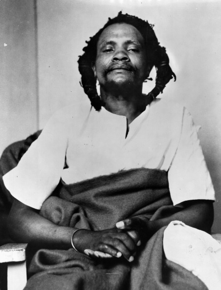 Dedan Kimathi Waciuri At His Trial In Nyeri