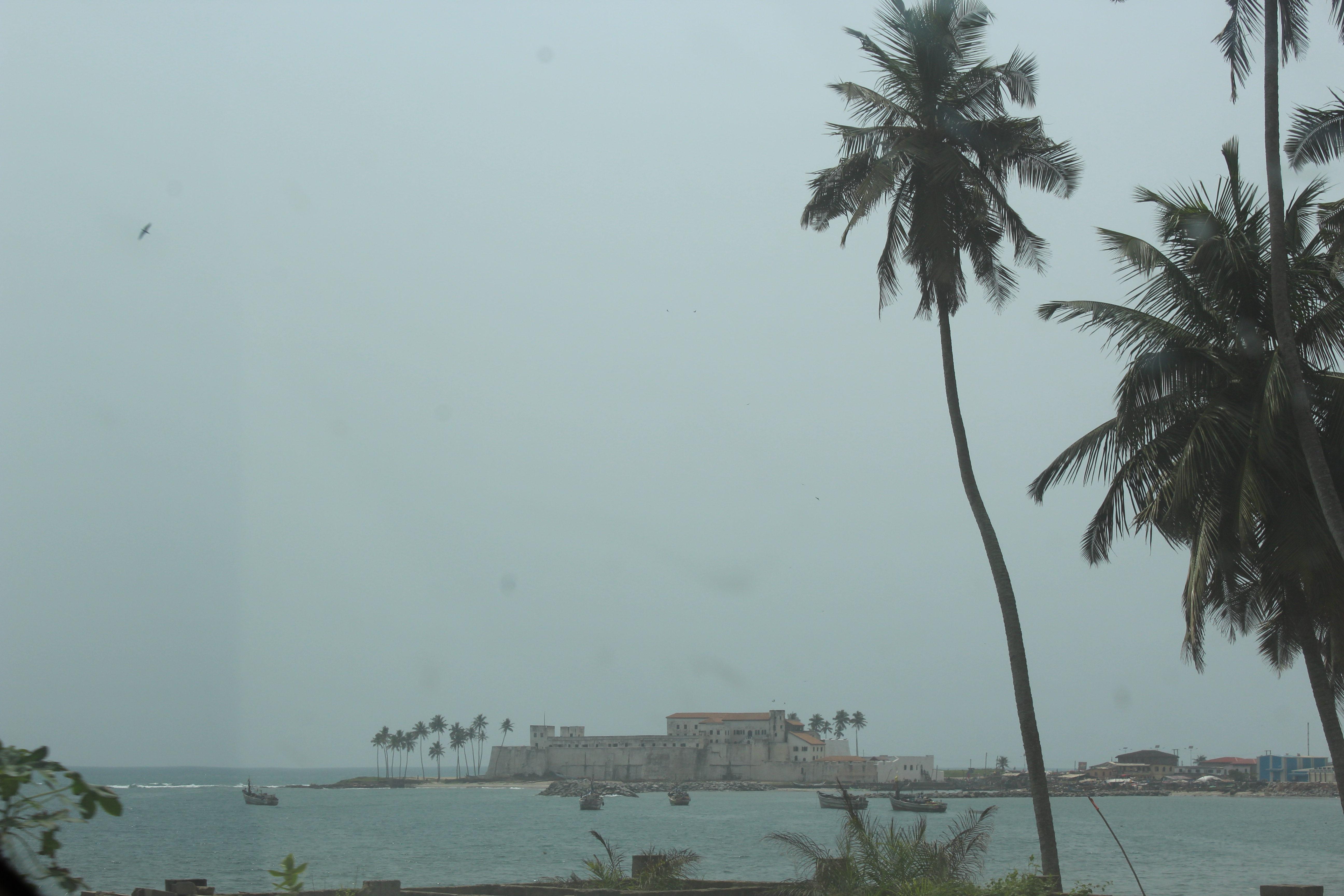 Elmina castle from a distance