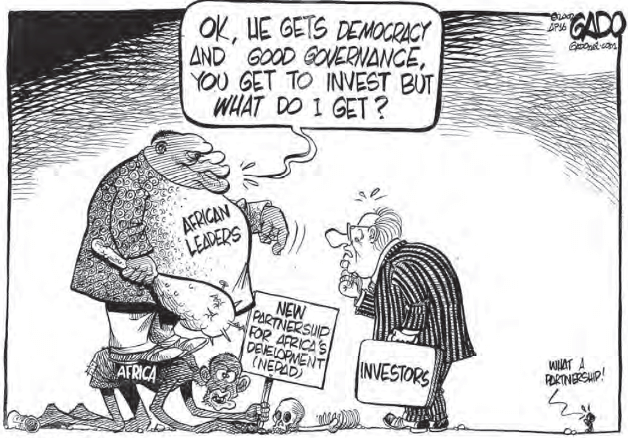 cartoon-on-misguided-aid-new-partnership-for-Africas-development-and